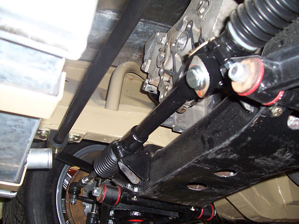 Steering rack from below.