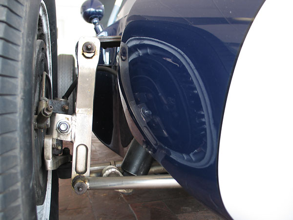 The Cooper T43 front suspension is an improved variant of the Fiat Topolino suspension...