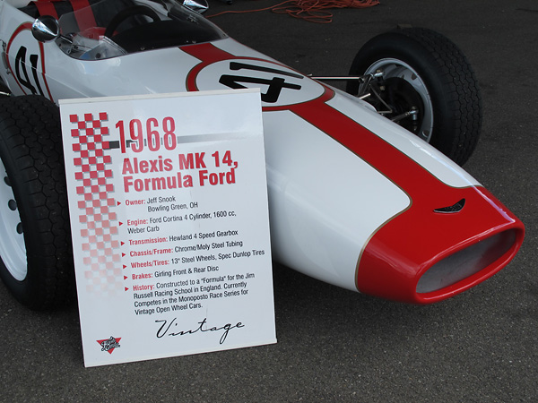 Jeff Snook's Alexis Formula Ford, chassis number AT51