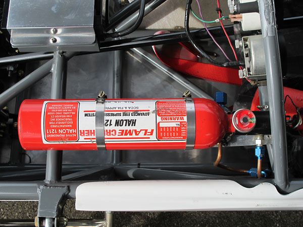FlameCrusher Halon 1211 centralized fire suppression system.