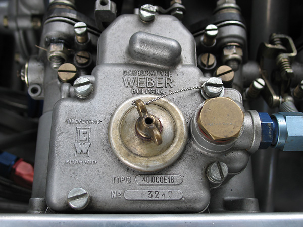 Dual Weber 40DCOE carburetors.