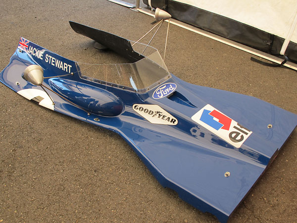 Tyrrell fabricated all their own fiberglass body parts.