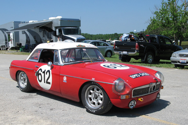 John Targett's MGB Race Car, Number 612, BMO 542B