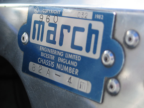MARCH Engineering Limited, Bicester England - Chassis Number 82A - 4