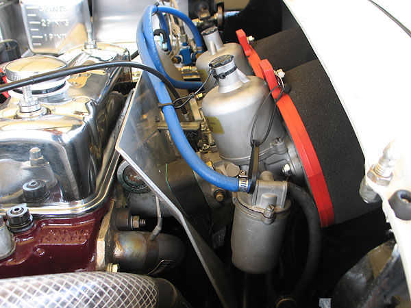 Dual 1.75 inch S.U. carburetors.