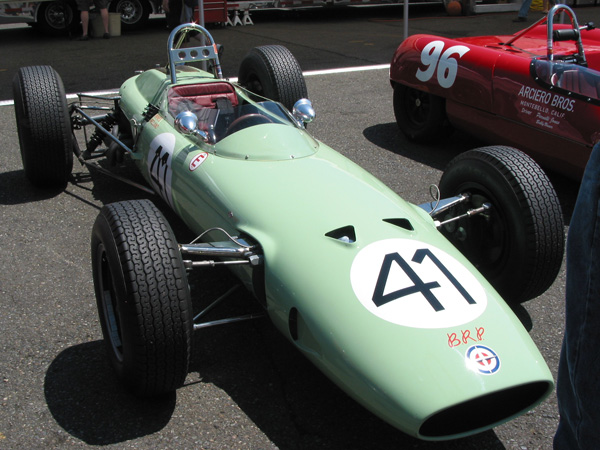 The BRP-BRM was the second car of Fomula One's new generation to feature monocoque construction.
