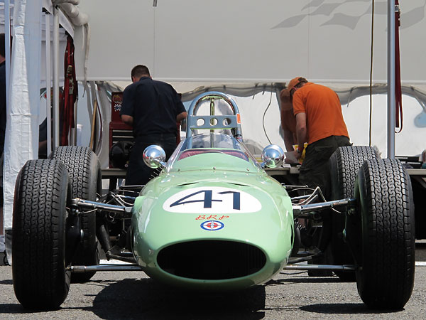 BRP initially carried over the familiar Lotus 24 front suspension to their own chassis.