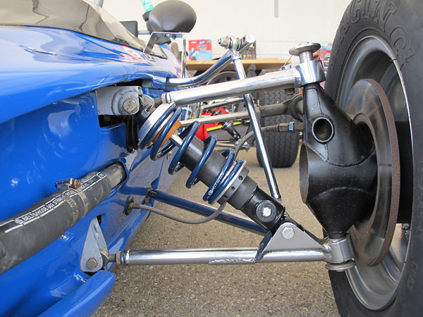 KONI double adjustable, steel bodied shock absorbers and Hyperco springs.