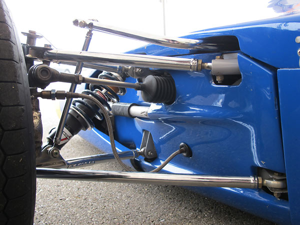 Anti-sway bar with three selectable stiffness settings.