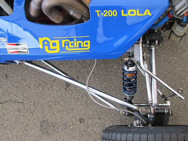 All suspension links, control arms, and even axle halfshafts have been nickel plated.