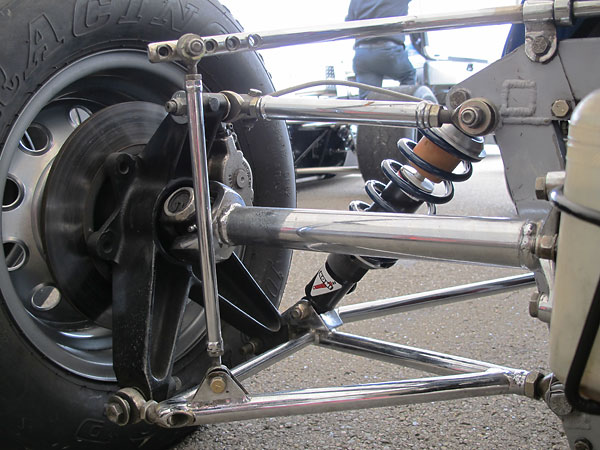 Anti-sway bar with five selectable stiffness settings.