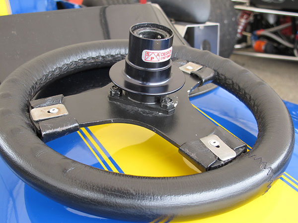 SPA Design quick release steering wheel hub.