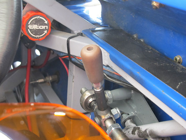 Tilton remote brake bias adjuster knob.