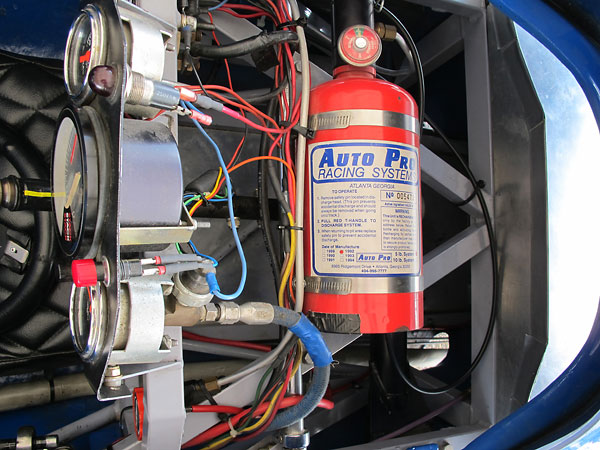 Auto Pro Racing Systems centralized fire suppression system.