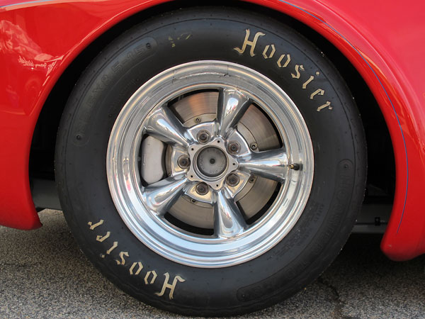 Hoosier T.D. S bias-ply racing tires. The S stands for stiff sidewall.
