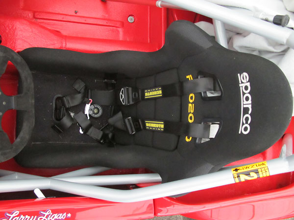 Schroth Racing six point safety harness.