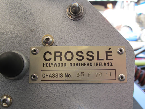 Crossle, Holywood, Northern Ireland. Chassis 35F 79 11