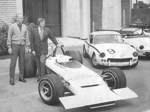 Kas Kastner and John Brophy shortly after recieving Lola chassis number HU192/22.