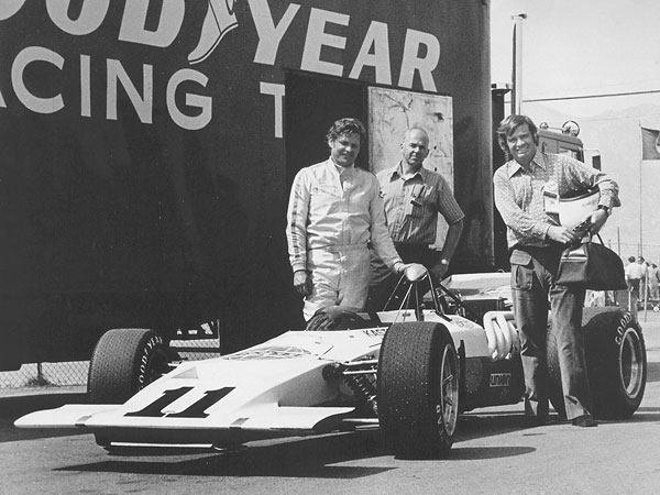 Jim Dittemore, Kas Kastner and John Brophy at Riverside for the first race of 1971.