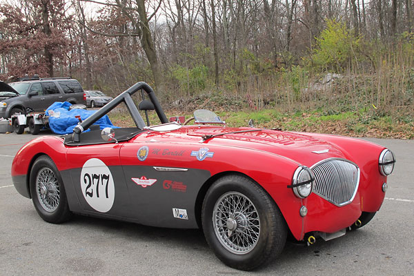 The Austin Healey 100M Car Registry recognizes Mike Bartell's racecar, BN2L 229049, as the 111th of 690 factory-modified cars in the 100M series.