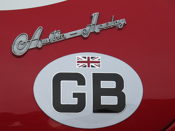 Austin Healey boot badge.