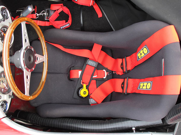 OMP five point cam-lock safety harness.