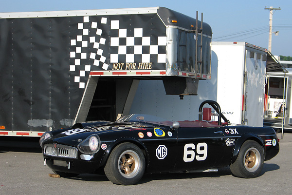 The Mike Adams / Al Pease Supercharged 1962 MGB Racecar, Number 69