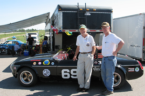 Al Pease and Mike Adams reunited at Mosport in June 2010.