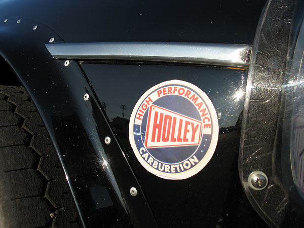 Holley High Performance Carburetion sticker.