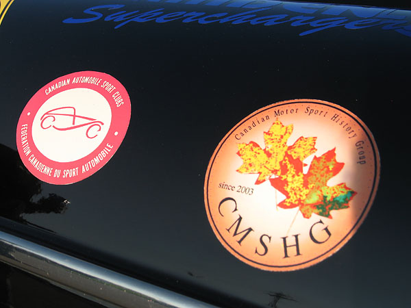 CMSHG: Canadian Motor Sport History Group (since 2003) sticker.