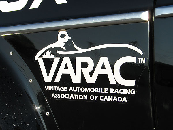 VARAC: Vintage Automobile Racing Association of Canada decal.