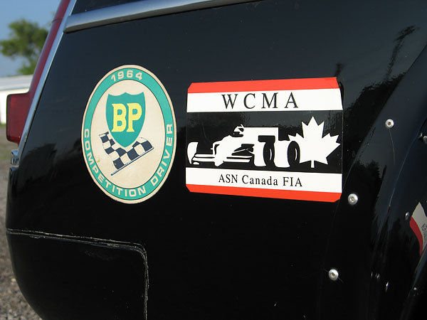 BP 1964 Competition Driver sticker. WCMA ASN Canada FIA sticker.