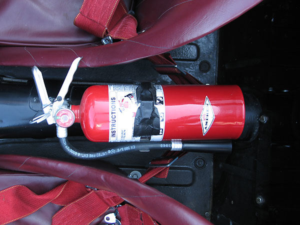 Amerex handheld fire extinguisher.