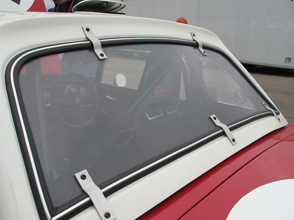 Polycarbonate rear window.