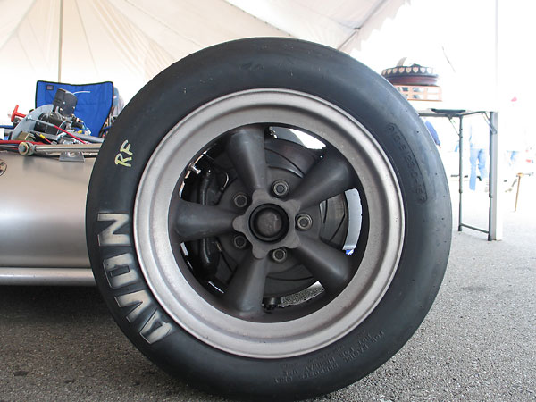 American Racing Torq-Thrust magnesium wheels (15x10 front, 15x15 rear).