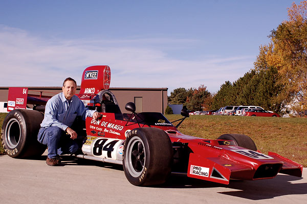 Paul Dudiak with his McKee Mk12c racecar, shortly after purchasing it from Donald De Maagd.
