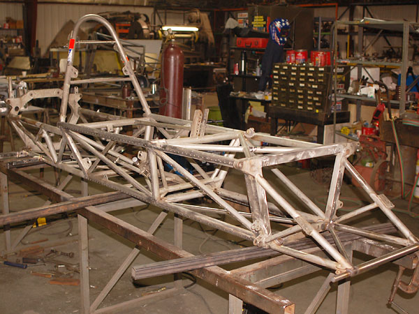 McKee Mk8 and Mk12 spaceframes were constructed of Grade 304 stainless steel.