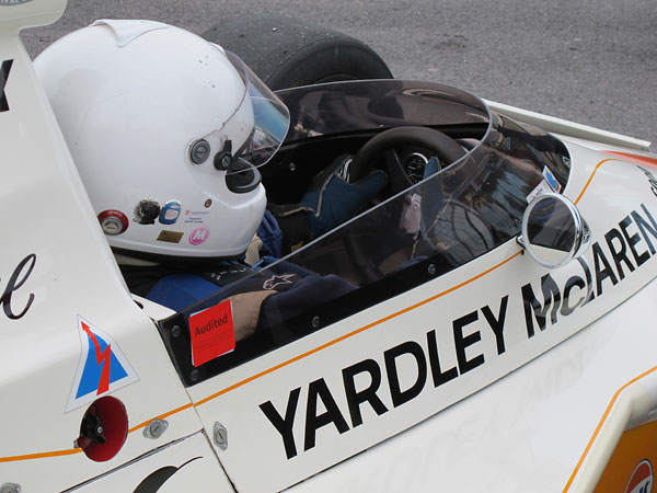 Frank Lyons came over from Ireland to demonstrate McLaren M23/1 at Lime Rock and Watkins Glen.