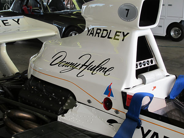 Early McLaren M23 airbox.