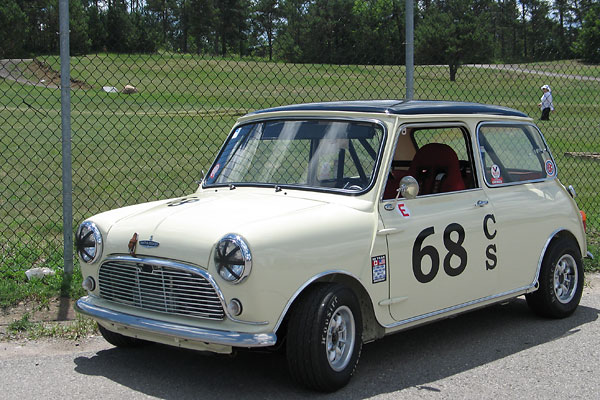 The fastest lap time set by any Mini that weekend was 1:44.57 by Rachel's husband Andy.