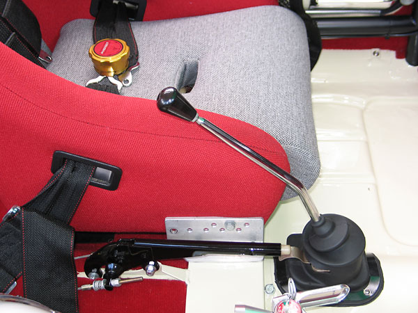 Since both Rachel and her husband drive the car, they needed an adjustable seat mount.