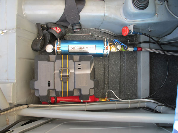 Attwood Sea Guard marine battery box. Phoenix Halon fire suppression system.