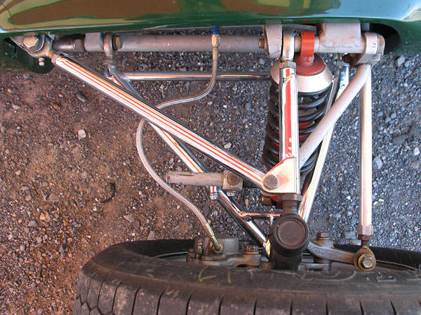 Two-piece upper control arms also simplify suspension tuning.