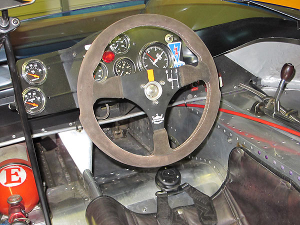 Personal steering wheel, mounted on universally jointed steering column.