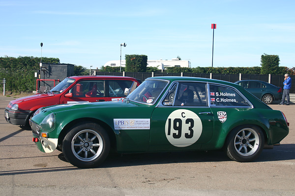 MG Car Club Championship / Peter Best Insurace Challenge sticker.