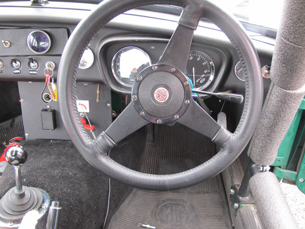 Moto-Lita 15 inch steering wheel with quick release hub.