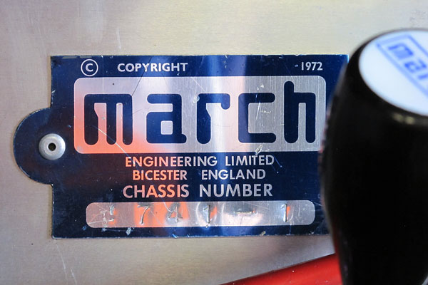 MARCH Engineering Limited, Bicester England, Chassis Number 741-1