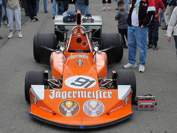 Jaegermeister livery appeared on 741-1 for the 1974 German Grand Prix.