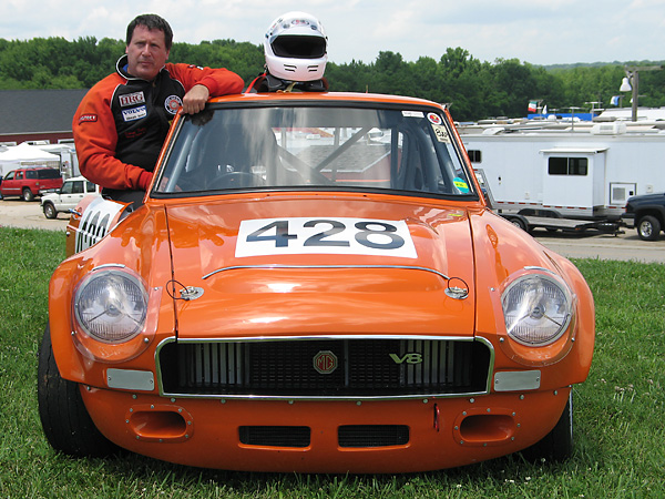 Storm Field's factory MGB GT V8 Race Car, Number 428
