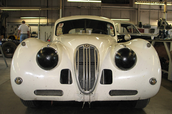 Tivvy Shenton's Jaguar XK140 Race Car, Number 130